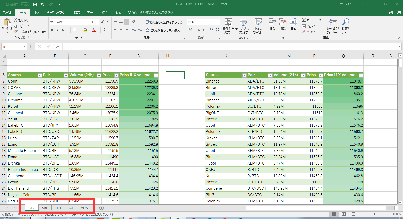 Matchmaking excel